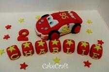 Lightning Mcqueen car Handmade edible birthday cake decorations topper