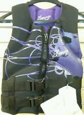 Slippery Wetsuits Womens XS Extra Small Purple Life Jacket Vest seadoo jetski