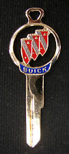 Rare Vintage Red BUICK Tri Shield Gold Silhouette Key NOS 1963 1964 1965 1966