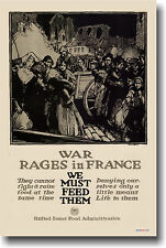 War Rages in France - Vintage WWII War Art Print POSTER