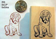 Mastiff dog rubber stamp Wm P53