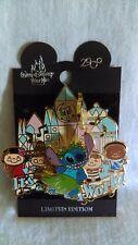 Disney Pin Stitch's Magical Adventure It's A Small World Face Clock 2005 LE