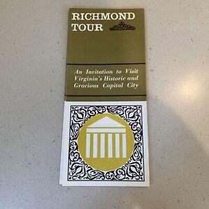Richmond Virginia Tour Guide Brochure VA Historic Capital New Old South Map