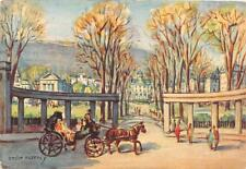 HORSE CARRIAGE McGILL UNIVERSITY CANADA ARTIST SIGNED ANDRE MORENCY POSTCARD '56