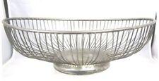 Vintage Leonard Silver Plated Oval Wire Bread Basket 1950's Hallmark Hong Kong