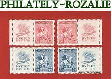 CZECHOSLOVAKIA SET STAMPS MNH ** 1946 Mi 490Zf/491Zf CZECH MAY UPRISIND