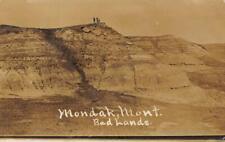 RPPC Mondak, Montana Bad Lands Real Photo 1908 Vintage Postcard