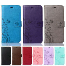 Womens Magnetic Flip Silicone Flower Leather Shockproof Case Cover For iPhone B