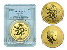 2012 GOLD 1 OZ. LUNAR YEAR OF THE DRAGON PCGS MS70 - SOLD OUT AT MINT - RARE