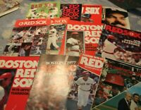 Boston Red Sox Official Yearbook lot of  books 1975 (American League) to 1989