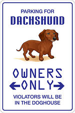"*Aluminum* Parking For Dachshund 8""x12"" Metal Novelty Sign  NS 110"