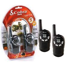 COBRA MT200 PMR446 WALKIE TALKIE RADIOS TWIN PACK 5KM RANGE - BLACK NEW