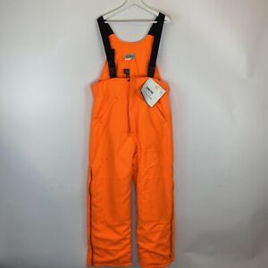 NWT LL. Bean Neon Orange Gore-Tex Insulated Hunting Bibs Overalls Large