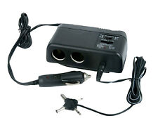 Plug In 1 TO 2 Cigarette Lighter Multiplier & Adjustable AC Voltage Transformer