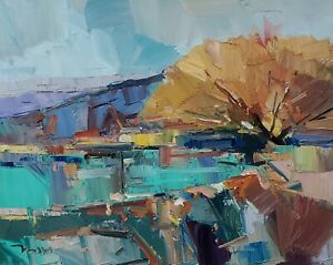 JOSE TRUJILLO Oil Painting IMPRESSIONISM 16x20 LARGE LANDSCAPE COLLECTIBLE ART