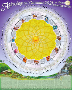 2021 Astrological Moon Calendar & Planting Guide:FOLDED in A4 ENVELOPE x 1
