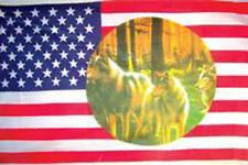 WARRIOR & WOLVES FLAG FL310 flags united states banners american USA wolf NEW