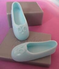 Poseable-Large Feet-Flat Footed Barbie or Jazzie & LIV DOLL Ballet Shoes~Lt BLUE