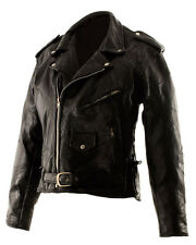 NEW Leather Mens Motorcycle Vintage Black Clothing Coat Jacket Classic Design