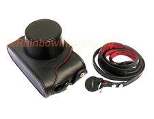 Black Genuine Leather Case for Fujifilm Finepix X10 X20 replaces LC-X20 LC-X10