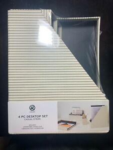 Desk Organization 4 Pc Set Casual Stripes - U Brands