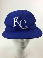 Kansas City Royals Vtg Mlb Flat Bill SnapBack Blue Hat Cap Fast Free Ship wow