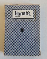 Vintage Harrahs Harrah's Marina Casino Playing Cards Deck Gemaco Cancelled Used