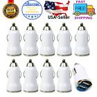 10X White Dual USB Port Car Charger Adapter 2.1A For iPhone LG HTC Samsung Phone