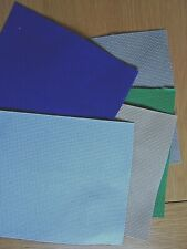 5 pieces of aida. 14 count. Dk & light blue,stone,green,and brown.16 x 16cm.New.