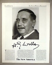 H.G. Wells on The New Deal MAGAZINE ARTICLE - 1935