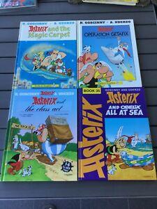 Asterix Hardback Lot of Four Books - All at Sea, Operation Getafix, Magic Carpet