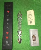 COLLECTABLE WILLIAMS PEWTER LOVESPOON DRAGON AND CROSS TEASPOON