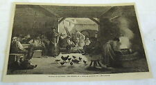 1878 magazine engraving ~ INTERIOR OF A VENTA OR ROADSIDE INN, OLD SPAIN