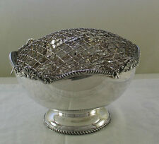 Silver Rose Bowl with Net, Gadroon & Shell Applied Border Mappin & Webb