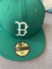New Era Boston Red Sox 59Fifty Kelly Green MLB Team Fitted Hat Assorted Sz 7 1/8