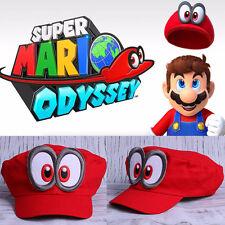 Game Super Mario Odyssey Hat Adult Kids Anime Cosplay Red Mario Cap Handmade New