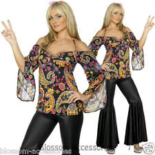 Groovy 60s 70s Hippie Chic Size Large 16 - 18 Ladies Costume