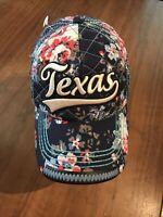 Robin Ruth Designer Floral Texas Hat/cap Blue/Pink Color. Adjustable Strap.