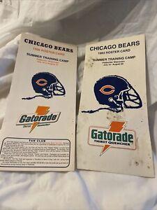 Chicago Bears 1996 1993 Platteville WI training roster