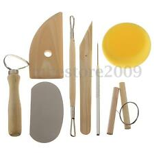 8Pcs Pottery Tool Kit Clay Ceramics Molding Carving Needle Cutter Loop Ribbon
