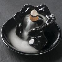 Ceramic Incense Burner Smoke Backflow Cone Censer Stock Holder Decor Buddhist