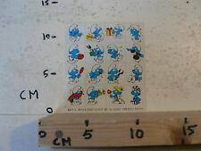 STICKER,DECAL SMURF MINI SHEET WITH STICKERS PEYO 1978 SEPP WAVERY PRODUCTIONS A