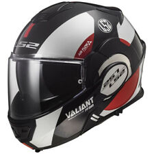 LS2 Valiant Flip-Up Modular Motorcycle Helmet Avant Black/White/Red Medium NEW