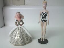 2 1994 Hallmark Keepsake Ornaments Holiday & Debut 1959 Barbie Collector Series