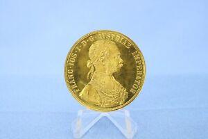 Österreich 4 Dukaten 1915 Franz Josef * 13,94 Gramm - 986 Gold * fast Pfr.