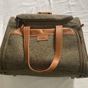 "Hartmann Luggage 14"" Tweed & Belting Leather Overnight Carry On Duffel Bag"