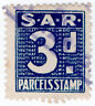 (I.B) South Africa Railways : Parcel Stamp 3d
