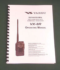 Yaesu VX-8R Instruction Manual -  Premium Card Stock Covers & 32 LB Paper!