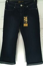 New with Tags AUTHENTIC DENIM 247 Size 6 - 3/4 CROPPED BLUE JEANS