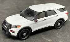 Greenlight 1/64 2020 Ford PI Utility Police SUV BLANK WHITE EXCLUSIVE 51331A